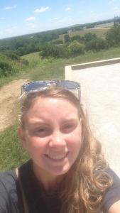 Elizabeth Westhoff at Cahokia Mounds