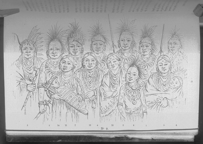 Group of Iowa Indians who visited London in 1844