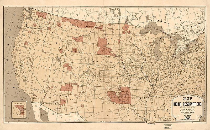 Map of the United States, Native American tribe locations
