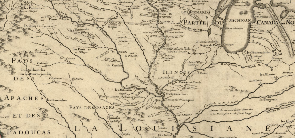 Close up image of La Louisiane Map